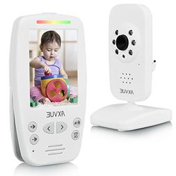 """AXVUE E660 Video Baby Monitor with 2.8"""" LCD and Night Visi"""