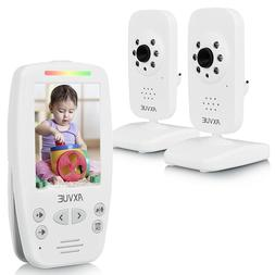 """Axvue E662 Video Baby Monitor, 2.8"""" LCD Screen and 2 Camera"""