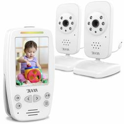Video Baby Monitor With Two Cameras And Comfort-Designed Scr