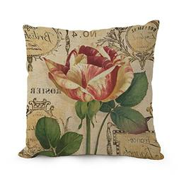 Flower Art Throw Cushion Covers 12 X 20 Inches / 30 By 50 Cm