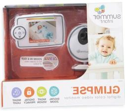 "Glimpse Summer Infant 2.8"" Color Video Baby Monitor Item #29"