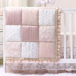 Grace 4 Piece Baby Girl Dusty Pink Floral Layered Patchwork