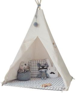 HAN-MM Kid's Foldable Teepee Play Tent, One Four Ploes Style