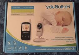 HelloBaby HB24 2.4GHz Digital Wireless Baby Monitor w/Night