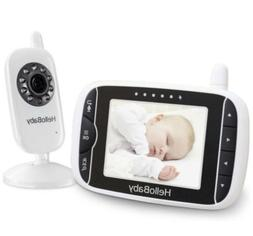 HelloBaby HB32 Digital Wireless Video Baby Monitor With Nigh