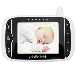 HelloBaby Video Baby Monitor Parent Handheld Unit Without Ca