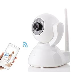 Home Camera, 720P P2P WiFi Security IP Camera with Two-Way A
