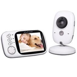 KKMOON 3.2inch 2.4GHz Wireless Baby Monitor with Temperature