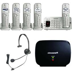 Panasonic KX-TGE475S Link2Cell Bluetooth Cordless Phone w/Ra