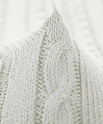 "NTBAY Cotton Cable Knit Soft 67"","