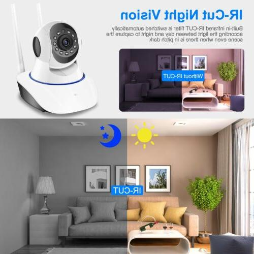 1080P Smart Security Camera Night Vision Baby Monitor