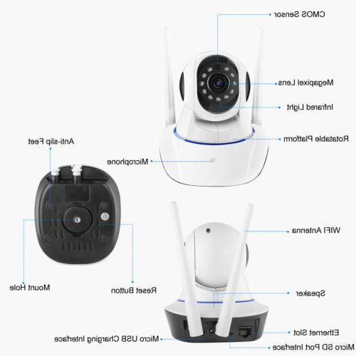 1080P HD Smart Home Security Night Vision Wifi Monitor
