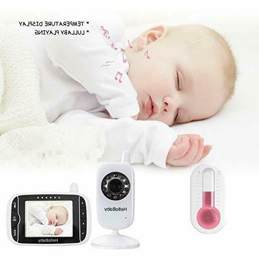 HelloBaby Baby Monitor with Night Vision & Temperature Tw