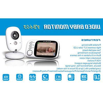 "3.2"" LCD Baby Monitor with Vision & ADF"