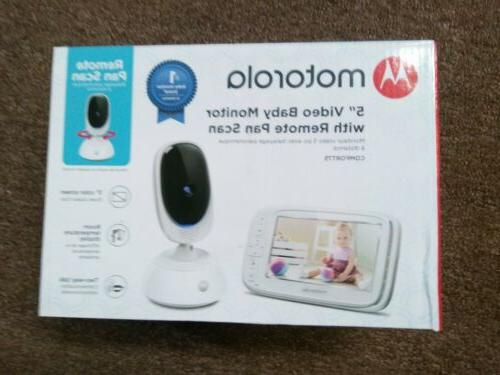 5 video baby monitor with remote pan