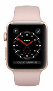Apple Watch Series 3 38mm Gold Aluminium Case with Pink Sand