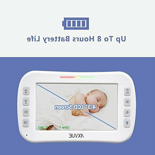 """Video Baby Monitor with 4.3"""" LCD Screen - Axvue E610M"""