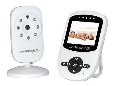 Babysense Video Baby Monitor with Infrared Night Vision, Two