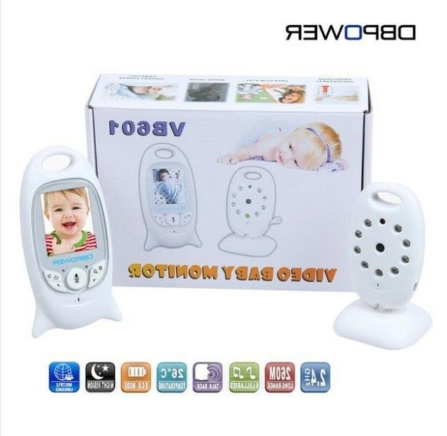 """DBPOWER 2.0"""" Color LCD Video Wireless Baby Monitor 2 Way Tal"""