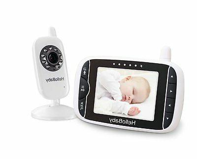 HelloBaby 3.2 Inch Video Baby Monitor with Night Vision & Te