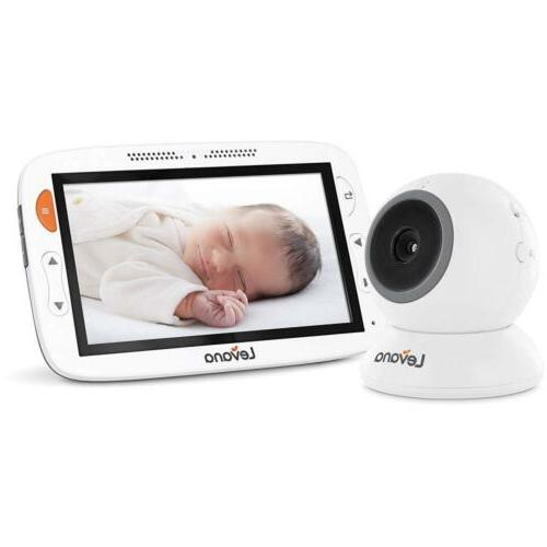 "Levana Alexa 5"" LCD Video Baby Monitor with 12 Hour Batter"