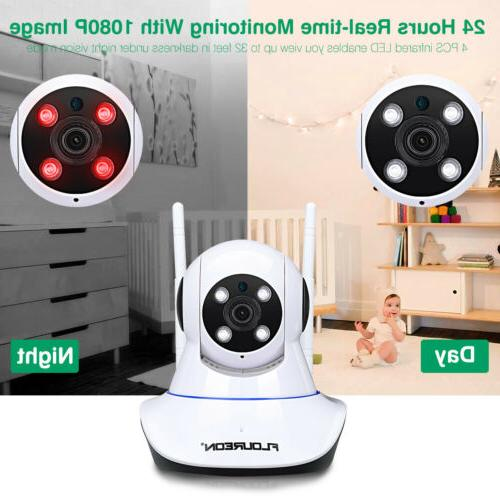 Wireless 1080P 2MP Pan/Tilt Baby Monitor IR-CUT Night Vision