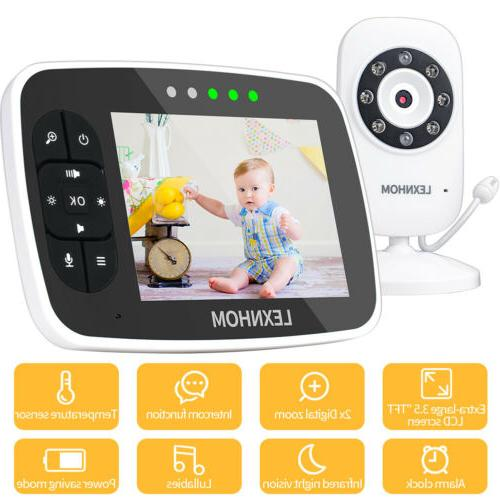 "LEXNHOM Video Baby Monitor with Camera and Audio, 3.5"" Large"