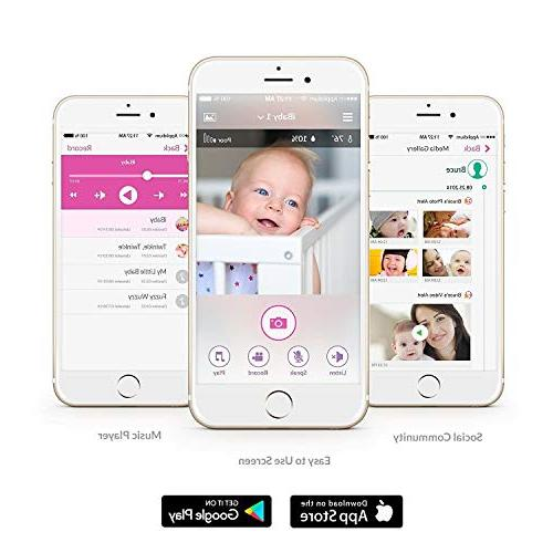 iBaby Baby Monitor M2S Plus, Wi-Fi Camera Temp Humidity Detector and Vision Camera, iPhone Android