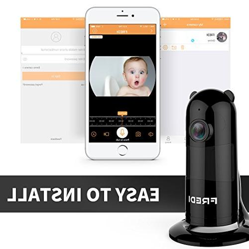 FREDI Baby Monitor WiFi Camera 1080P Camera with Two-Way Security Loop Recording