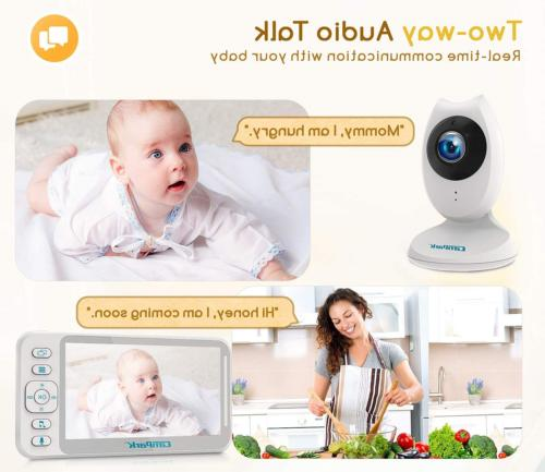 Baby Monitor with and Video Baby 4.3'' LCD Split 8