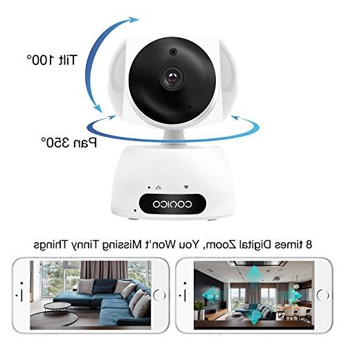 Video Baby 1080P Wireless Two Way Audio Night Vision Motion Detect Remote Viewing Pan Tilt for