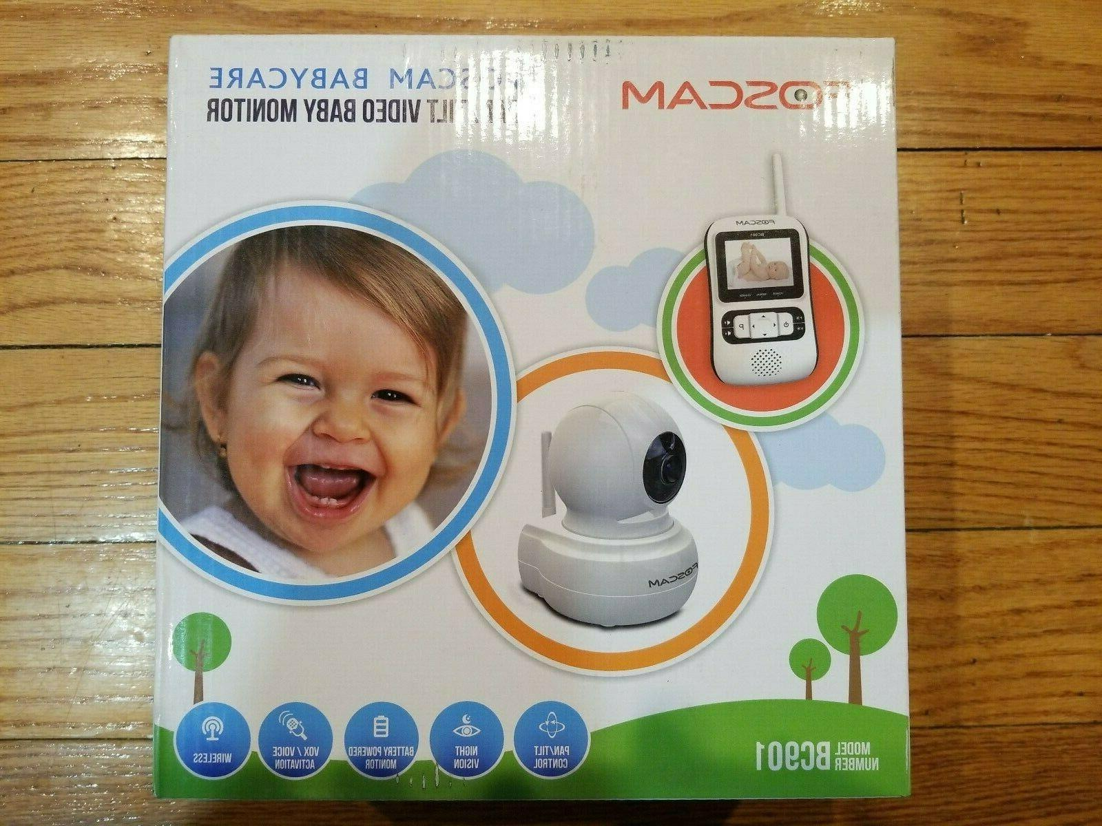 Foscam Babycare BC901 Pan/Tilt Video Baby Monitor - Night Vi