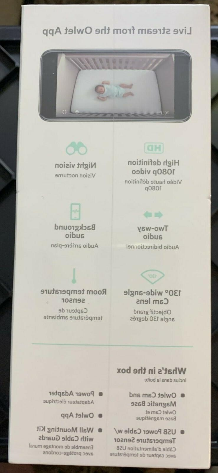 OWLET CAM Video Baby Monitor FACTORY S/H