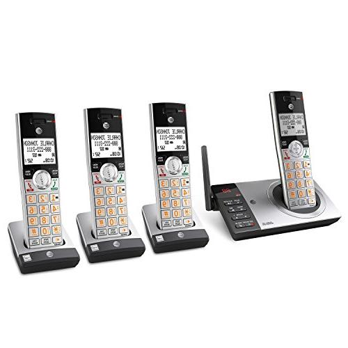 AT&T CL82407 DECT Expandable with Answering Call Silver/Black 4 Handsets