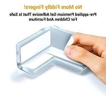 Skyla Clear Corner Protectors | Resistant Adhesive Best Guards Stop Child Head Injuries Tables, Furniture Baby
