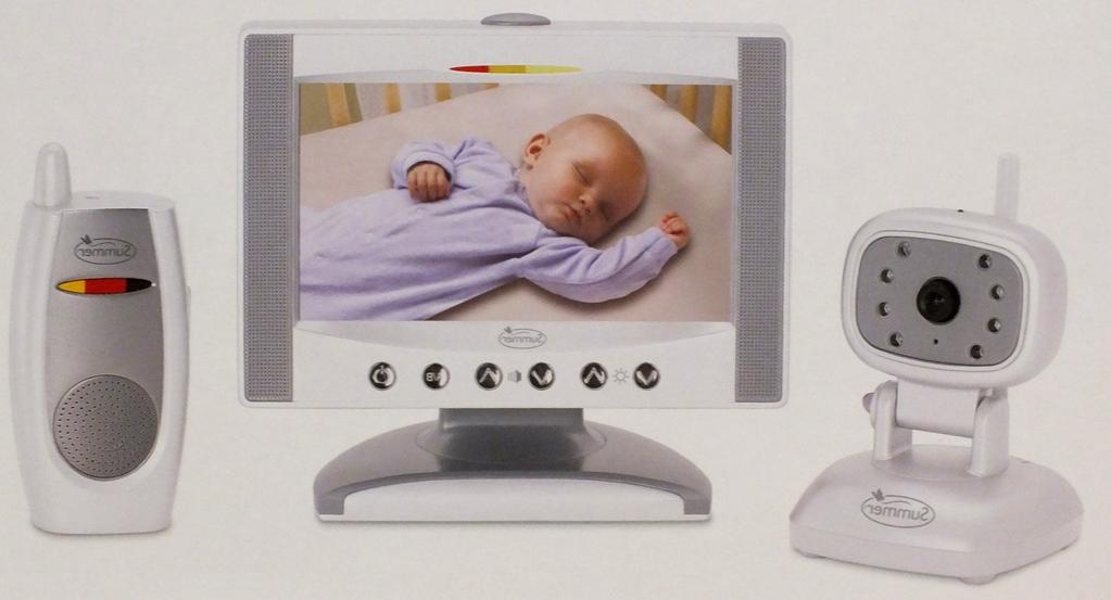 """Summer Infant Day & Night 7"""" LCD Flat Screen Color Monitor,"""