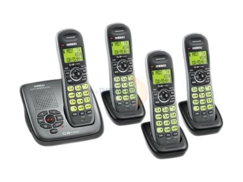 dect silver cordless phone system