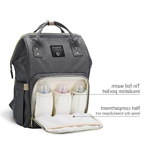 Smilism Backpack for Baby Care, Multi-Functional Baby with Fabric, Capacity,