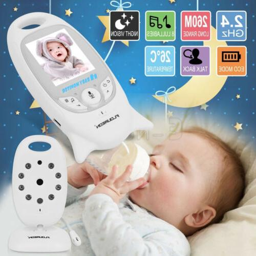 Wireless 2.4 GHz Baby Monitor LCD Video Security Camera Temp