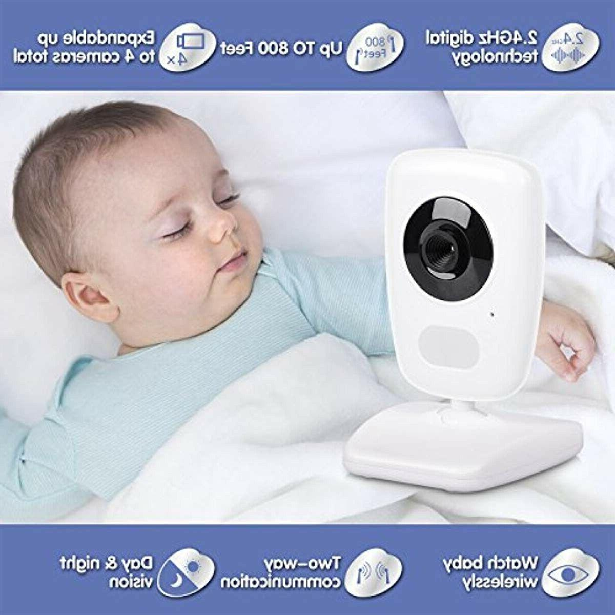 "AXVUE Baby Monitor with Two and 5"" LCD, Vision, Tempe"