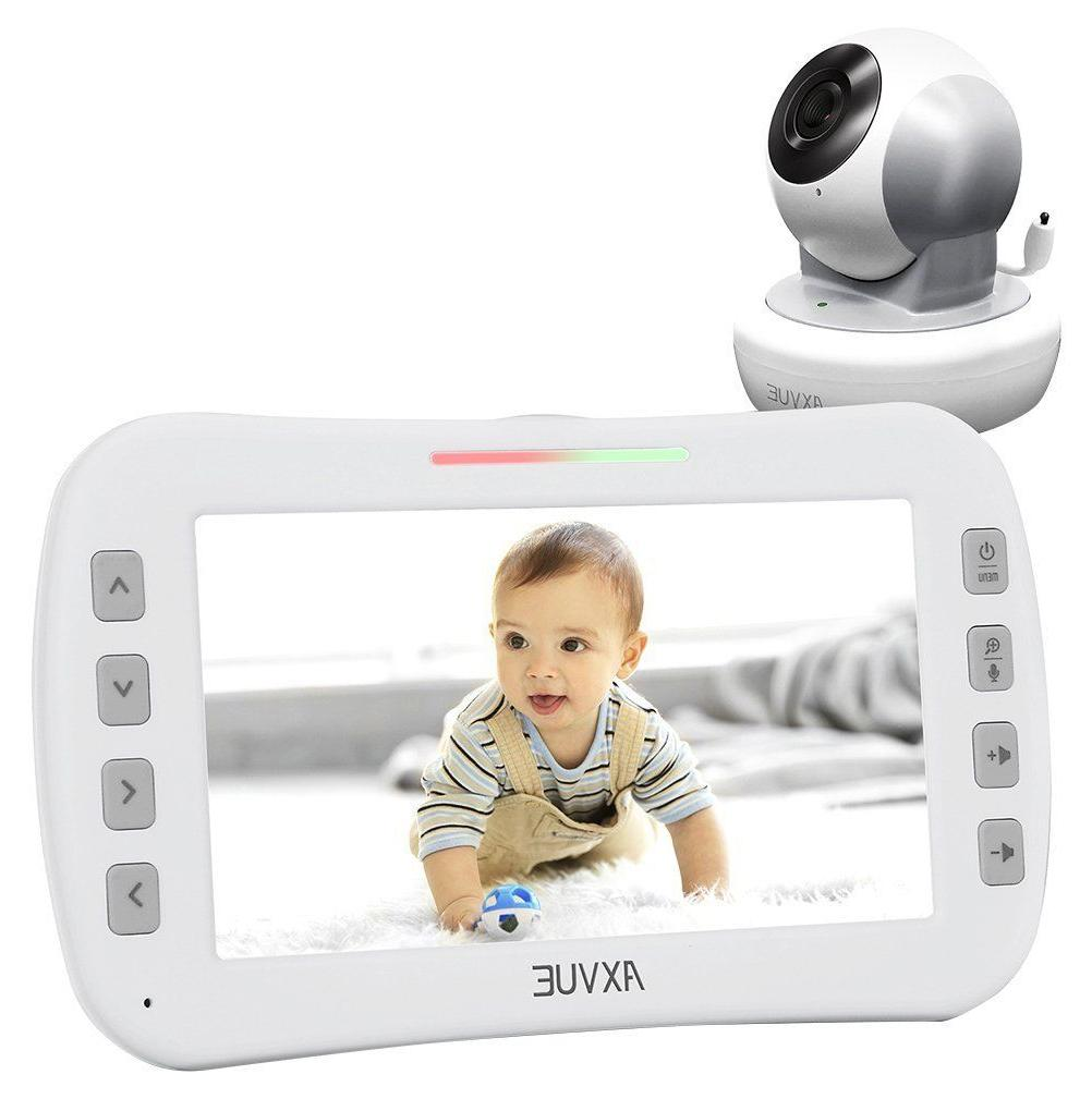 "Axvue E650 Video Baby Monitor, 5.0"" LCD Screen and Pan Tilt"
