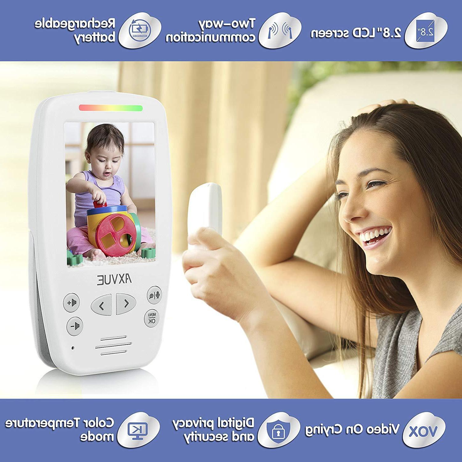 "Video Baby Monitor+2 2.8"" LCD way talk- Axvue"