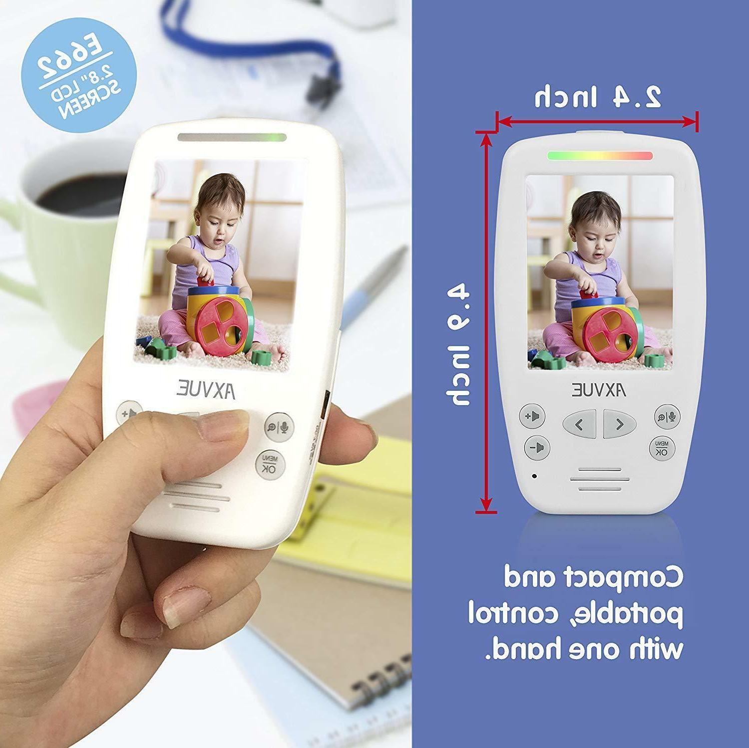 "Video Baby Monitor+2 2.8"" LCD Screen, way talk- Axvue E662"