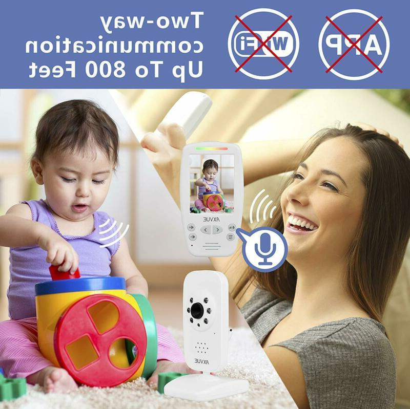 """AXVUE E662 Baby Monitor and 2.8"""" LCD, Vision,"""