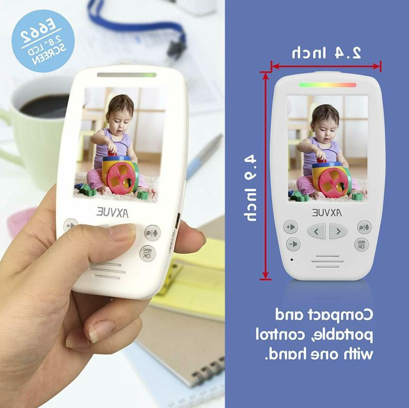 AXVUE Baby Monitor with Two and Vision,