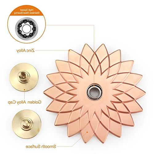 Cleefun Cool Rose Gold Metal Spinner Prime High Speed, Lucky Anxiety EDC Girls and