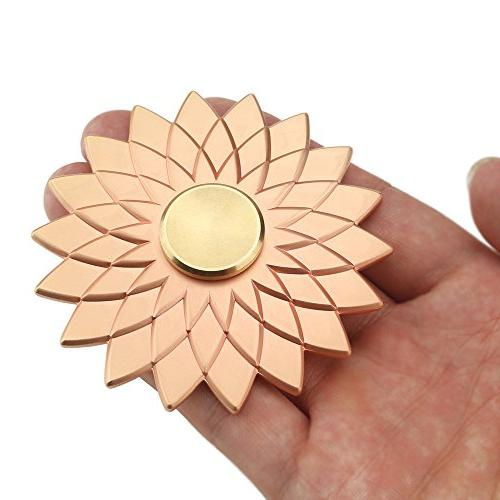 Cleefun Cool Rose Metal Fidget Prime High Quality Lucky Lotus Flower Fidget Spinner, ADHD Anxiety Girls Kids Friends and