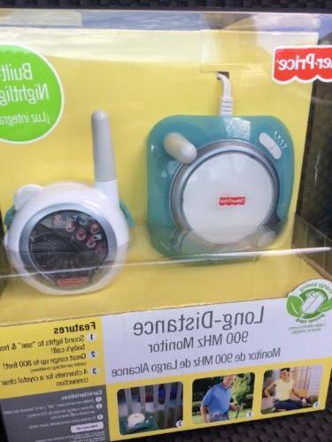 Fisher Price Long Distance Baby Monitor With Built In Nightl