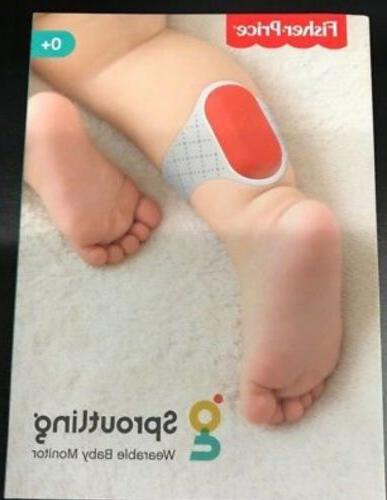 fisher price sproutling wearable baby monitor white
