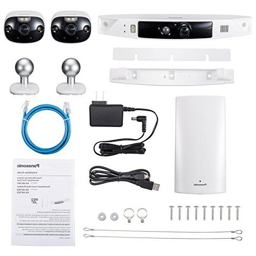 Panasonic Front Camera for Package Theft Prevention, 3 172° Wide Monitor, 100% Color Night Talk, HD
